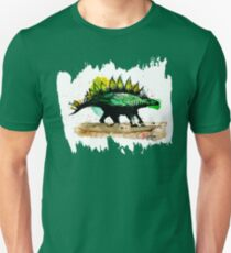 Dinosaur in green - Animals One - Habu-San Design T-Shirt