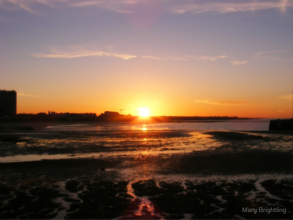 Margate sunset by Mary Brightling