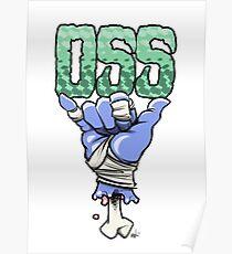 OSS blue Poster