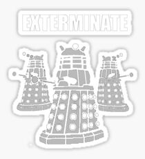 Doctor Who Dalek The Exterminate Sticker