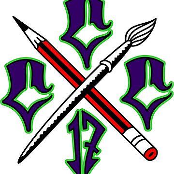 Cartel Crew Clothing Purple Cs Logo Design by cartelcrewco