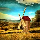A Windmill As Found in the Aland Islands, Finland, in the 19th century by Dennis Melling