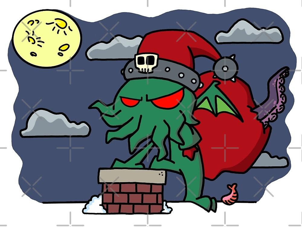 Cthulu Claus by joshatomic