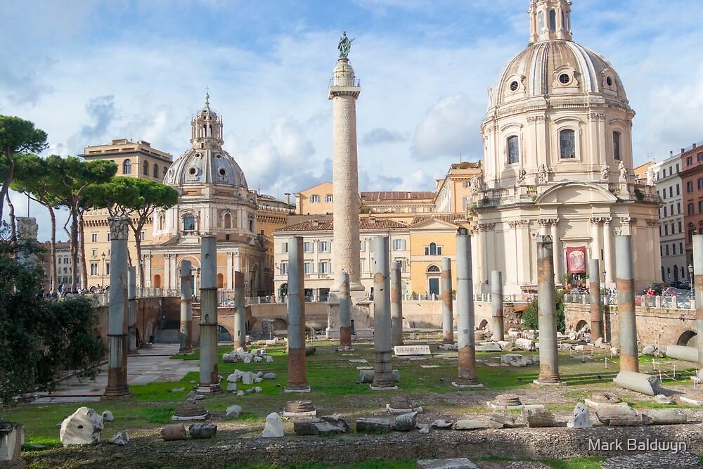 Foro Traiano, Rome by Mark Baldwyn