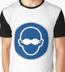 blue face Graphic T-Shirt