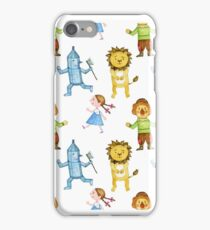 wizard of oz watercolor illustration iPhone Case/Skin