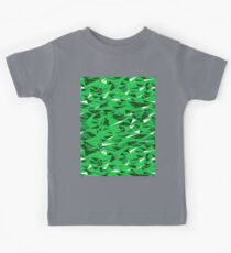 Geometric Green Hills Kids Tee