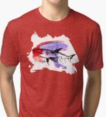 Shark in Red - Animals One - Habu-San Design Tri-blend T-Shirt