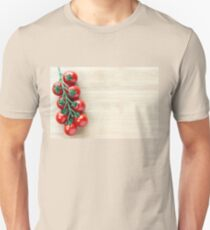 Cherry Tomatoes on a  Wooden Board Unisex T-Shirt
