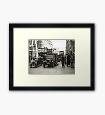 Drones in the city Framed Print