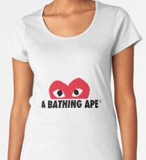 bape x cdg text Women's Premium T-Shirt