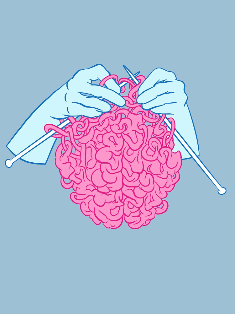 Knitting a brain by Chuvardina