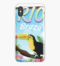 Rio Brazil Toucan travel poster  iPhone Case