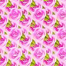 Pink Roses Pattern by LoneAngel
