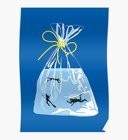 fishy business (royal blue) Poster
