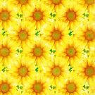 Yellow Flower Pattern by LoneAngel