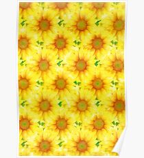 Yellow Flower Pattern Poster