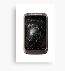 Broken Mobile Phone Canvas Print