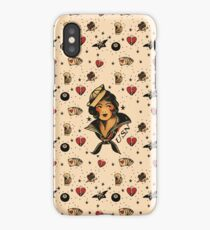 Sailor Jerry Tattoo Rockabilly Vintage iPhone Case/Skin