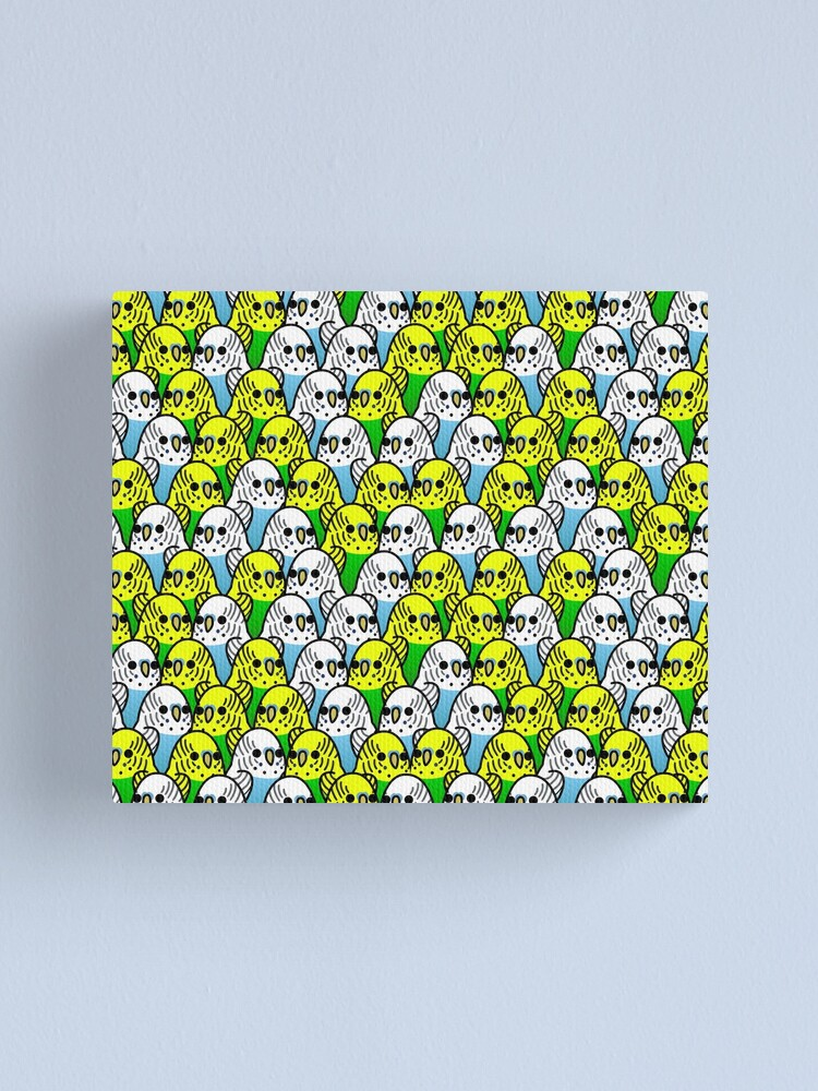 Alternate view of Too Many Birds! - Budgie Squad 1 Canvas Print