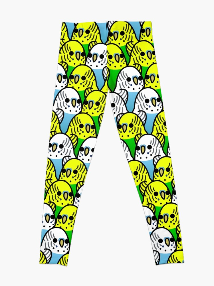 Alternate view of Too Many Birds! - Budgie Squad 1 Leggings