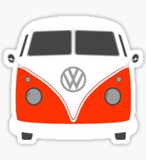 Orange Kombi Van Sticker