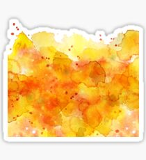orange watercolor Splash abstract background Sticker