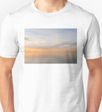 Peace and Quiet in Soft Pinks Oranges and Blues Unisex T-Shirt