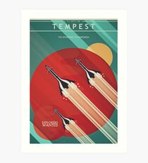 Fly With the Tempest Art Print