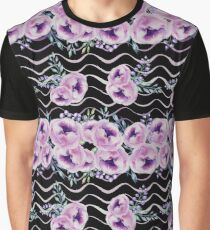 Watercolor Flowers Pattern Graphic T-Shirt