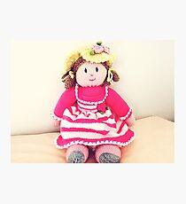 Adorable hand made doll  Photographic Print