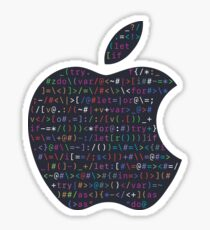 WWDC 2016 ASCII Logo (Dark Version, Large Font Size) Sticker