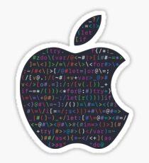 WWDC 2016 ASCII Logo (Dark Version, Large Font Size) Sticker