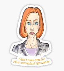 SCULLY 3 Sticker