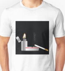 lighter and sigarette Unisex T-Shirt