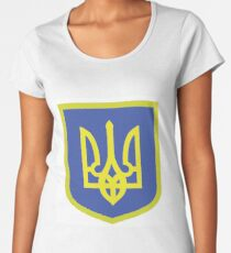 Coat of Arms of Ukraine Women's Premium T-Shirt