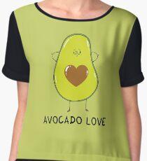 Avocado Love Chiffon Top