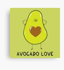 Avocado Love Canvas Print