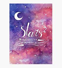 Zu den Sternen ACOMAF-Zitat Fotodruck