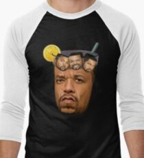 Just Some Ice Tea and Ice Cubes Tshirt design Men's Baseball ¾ T-Shirt