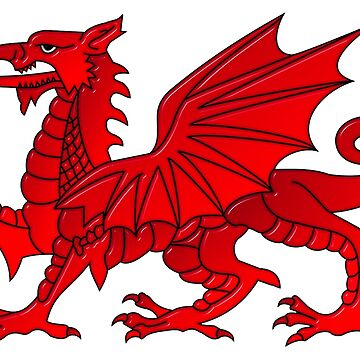 Welsh Dragon With a Bevel Effect by MarkUK97