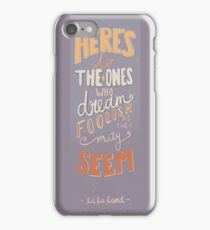 La La Land - Audition Song Lyrics iPhone Case/Skin