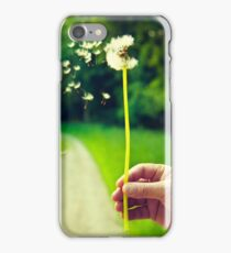 Blowing dandelion : She loves me, she loves me-not. iPhone Case/Skin