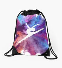 Gymnast Rainbow Explosion Drawstring Bag