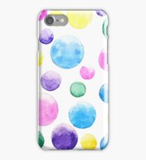 colorful bubbles watercolors  iPhone Case/Skin