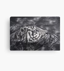 Tiger on the Hunt Canvas Print