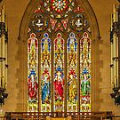 1254 Stained Glass Window by DavidsArt