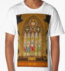 1254 Stained Glass Window Long T-Shirt