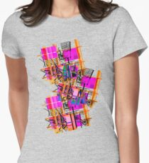 GRAPHIC #work #design Womens Fitted T-Shirt