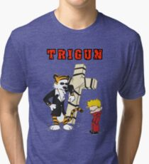 calvin and hobbes trigun Tri-blend T-Shirt